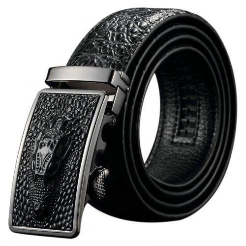 Fashion Men Belt Leather Needle Buckle Head Layer Leather Belt Male Leather Casual Belt