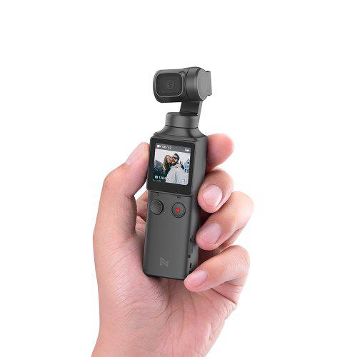 Gearbest FIMI PALM 3-Axis 4K HD Handheld Gimbal Camera Pocket Stabilizer 128° Super Wide Angle Anti-shake Shoot Smart Track Built-in Wi-Fi Bluetooth Remote Control ( Xiaomi Ecosystem Product ) - Black