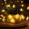 LED Snowflake Light String Christmas Decoration 3m 20 Lamp - WHITE