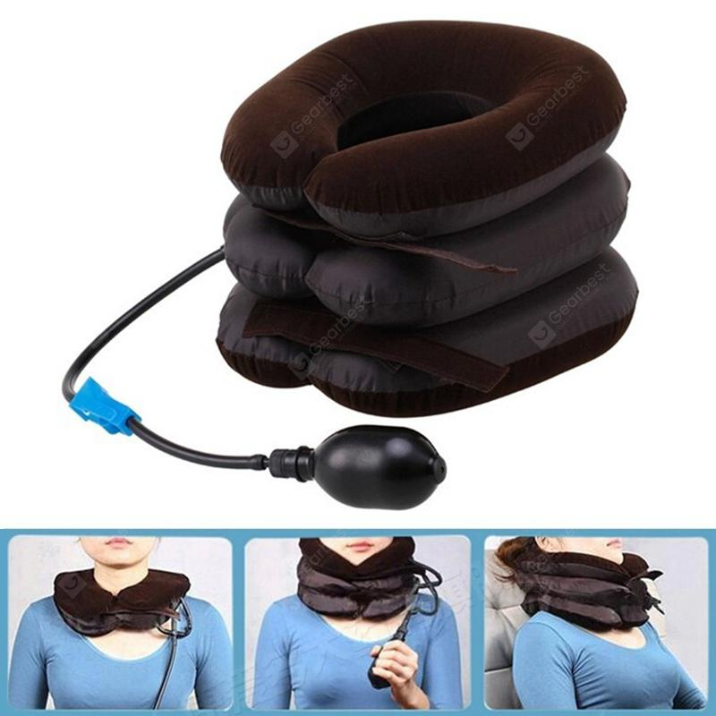 Household Inflatable Neck Traction Device 3-layer Head Support Pillow