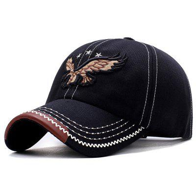 Men Baseball Cap Eagle Embroidery Pattern Outdoor Sun Block Hat