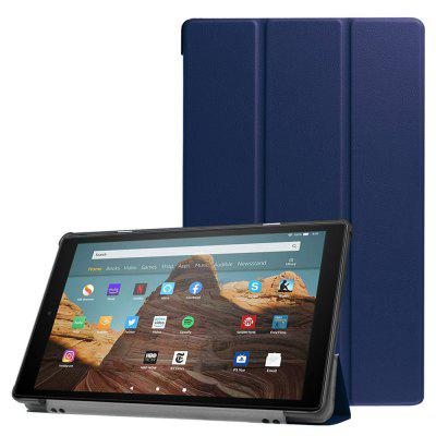 Triple-folded Tablet Holster Protective Cover Case for Amazon Fire HD10 / 2019