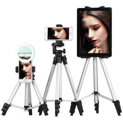 Aluminum Alloy Lightweight Tripod with Smartphone Clip for SLR / DSLR Camera and Phone