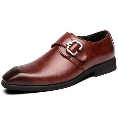 AILADUN Men's British Style Shoes Large Size Artificial Leather