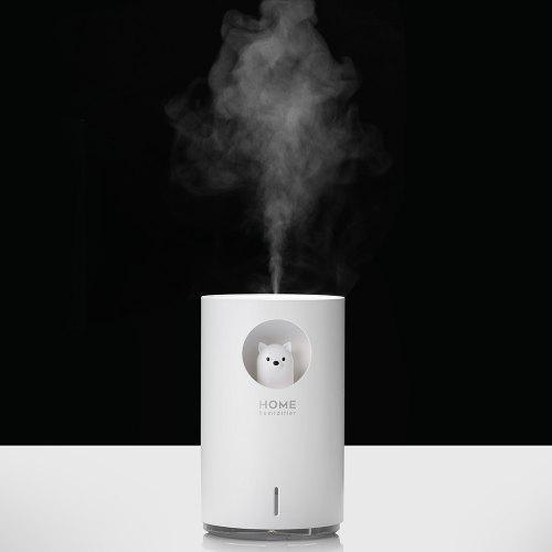 Bilikay M107 700ml Ultrasonic Electric USB Home Air Mist Humidifier Essential Oil Diffuser Atomizer Bear for Large Room with Colorful Night Light