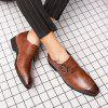 AILADUN Men's British Style Shoes Large Size Artificial Leather - BROWN