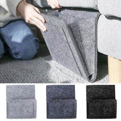Durable Felt Bedside Dormitory Storage Bag Solid Color Holder