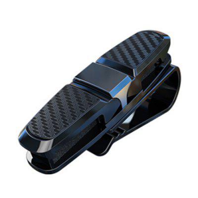 Multifunctional Carbon Fiber Car Visor Sunglass Glasses Ticket Card Clip Holder