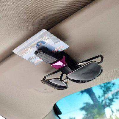 Multifunkční Carbon Fiber Auto Hledí brýle Glasses Ticket Card Clip Holder