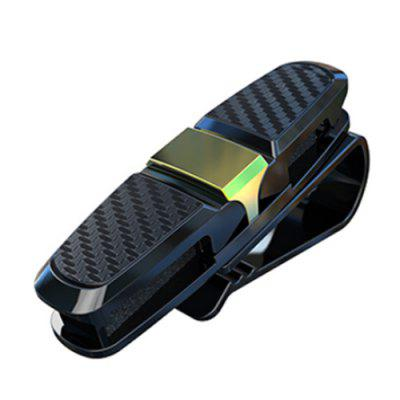 Multifunctionele Carbon Fiber Car Visor Sunglass Glazen Ticket Card Clip Holder