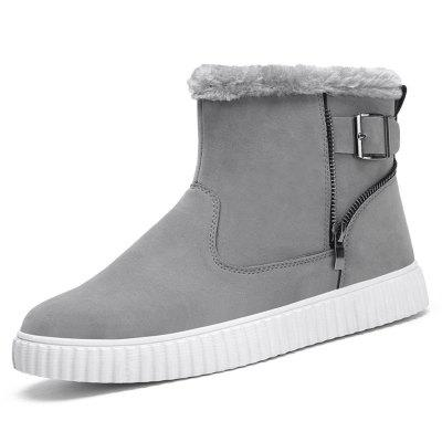 AILADUN Heren laarzen Plus Velvet Fashion High-top Toevallige Schoenen van de sneeuw