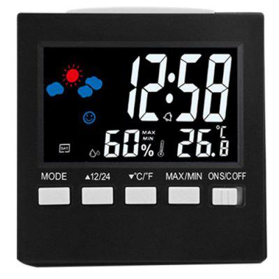 Multifunctionele LED Temperatuur en luchtvochtigheid Color Display Calendar Voice Control Klok Weerstation