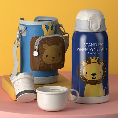 Large Capacity Thermos Straw Bottle Cute Children's Vacuum Cup