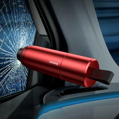 Baseus Safety Hammer Car Window Glass Breaker Auto Seat Belt Cutter Knife Mini Life-saving Escape Tool