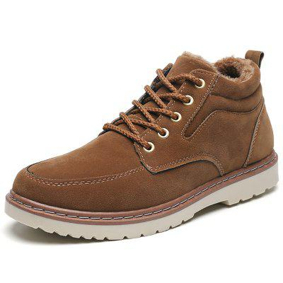 AILADUN Men's Shoes Mid-high Casual Cotton Footwear Fashion Plus Velvet Warm
