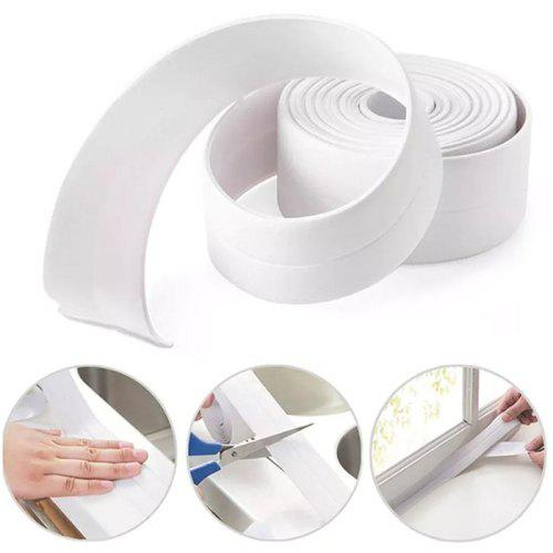 3.8mm Width Kitchen Bathroom Self Adhesive Wall Sealing Tape Water-resistant Sticker