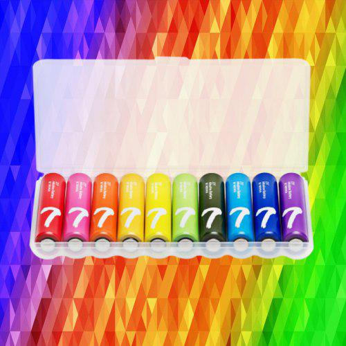 Xiaomi ZI7 Rainbow Alkaline AAA Battery 10pcs for Camera Mouse Keyboard Controller Toys