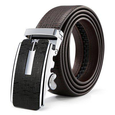 Pánské Automatic Buckle Belt Crocodile vzor Solid Color pas