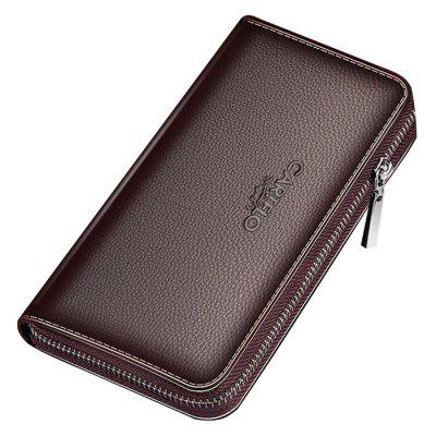 Heren Clutch PU Leather Long Wallet Multi-Card Handbag