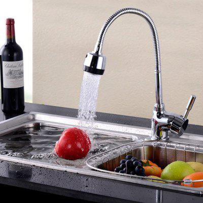 High Arc Single Handle Kitchen Faucet Dual Mode Effluent