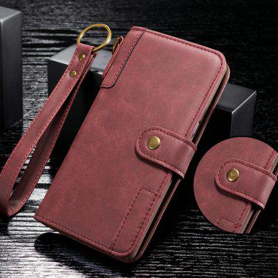 Cowhide Texture Horizontal Flip Leather Shell with Holder Card Slots Wallet Lanyard Phone Case for Samsung Galaxy A10E