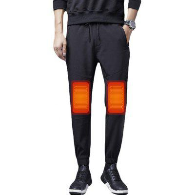 Herren Winter Elektrische Heizhose USB Smart Konstante Temperatur Plus Größe Beheizter Warmer Plus Samt