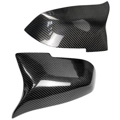Automotive Carbon Fiber Rearview Mirror Cover Replacement Shell for BMW Series 5 14 - 16 F10 F18, Series 6 15 - 16 F12, Series 7 13 - 15 F01 2pcs