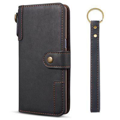Cowhide Texture Horizontal Flip Leather Shell with Holder Card Slots Wallet Lanyard Phone Case for Samsung Galaxy A40
