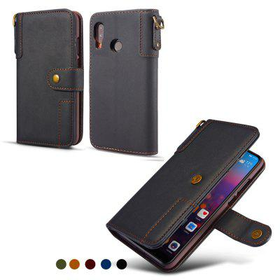 Cowhide Texture Horizontal Flip Leather Shell with Holder Card Slots Wallet Lanyard Phone Case for Samsung Galaxy A20e