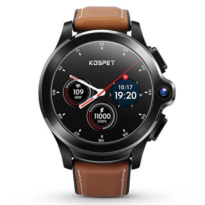 KOSPET Prime Face ID Dual Camera 4G Smartwatch 1260mAh batterij 1,6 inch IPS-scherm Android 3GB RAM 32 GB ROM Healthcare Sports Smart horloge voor heren