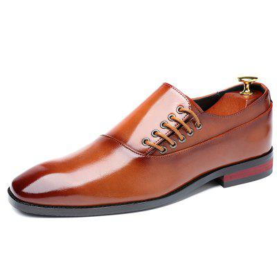 AILADUN Men's Casual Business Dress Shoes Retro Bright Color Models