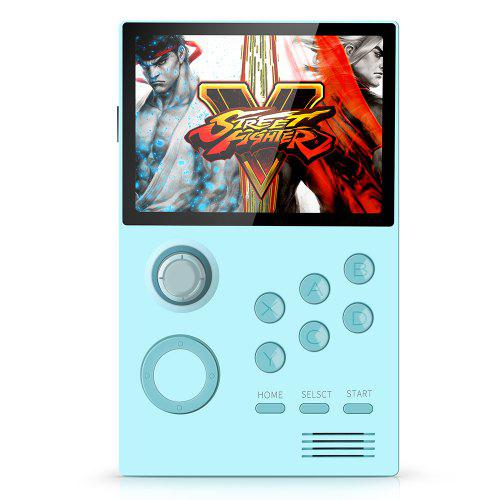 Supretro 3.5 inch IPS HD Screen Android Handheld Game Console Bluetooth WiFi Download Games Online - Tron Blue