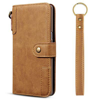 Cowhide Texture Horizontal Flip Leather Shell with Holder Card Slots Wallet Lanyard Phone Case for Samsung Galaxy A30S