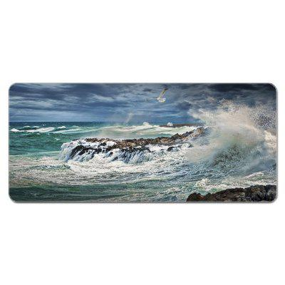 Oversized Cartoon Landscape Natural Rubber Mouse Pad