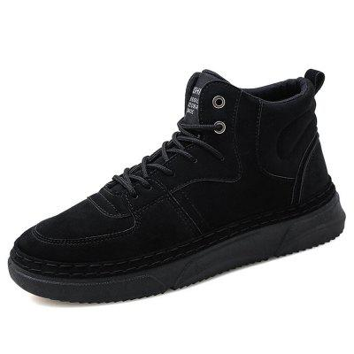 AILADUN Men's High-top Casual Cotton Sneakers Shoes