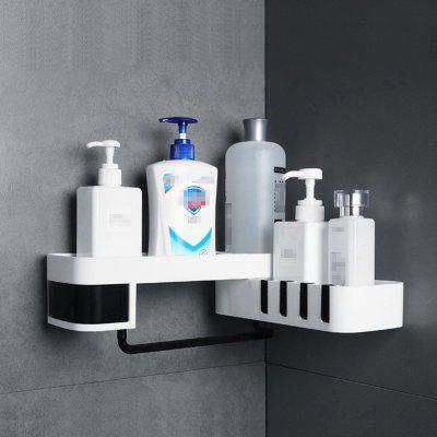 Rotating Bathroom Storage Shower Shelf Wall-hanging Rack