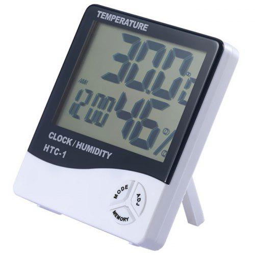 Large Screen Household Electronic Thermometer and Hygrometer with Alarm Clock