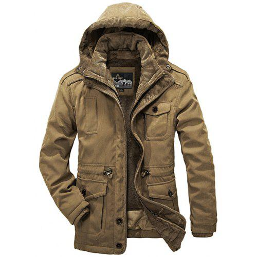 Zimuuy Toddler Baby Girls Zipper Pocket Winter Floral Thick Warm Jacket Hooded Windproof Coat