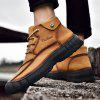 AILADUN Men's Outdoor High-top Round Toe Casual Shoes - BROWN