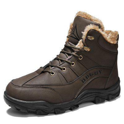 Men's Outdoor Hiking Snow Boots Cotton-padded Shoes