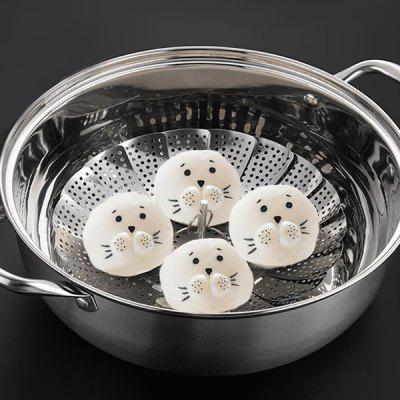 Folding Retractable Stainless Steel Steamer Folding Fruit Plate Creative Multi-purpose Kitchen Gadgets