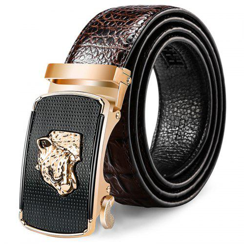 Automatic Fashion Men Belt Buckle Business Head Leather Belt Mens Leather Middle Age Belt