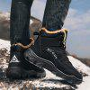 Men's Outdoor Hiking Snow Boots Cotton-padded Shoes - BLACK