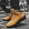 Autumn Winter Large Size Cotton-padded High-top Boots Men's Outdoor Casual Shoes - BROWN