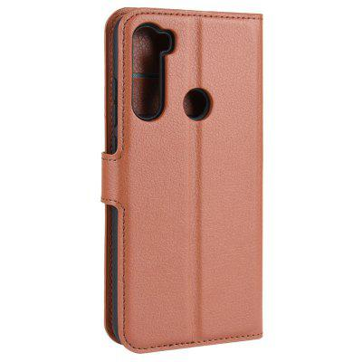 Naxtop TPU + PU Leather Wallet Flip Stand Phone Case met Card Slot Cash Storage Bag