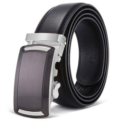 Pánské Business Belt Square Automatic Buckle Leather Pas