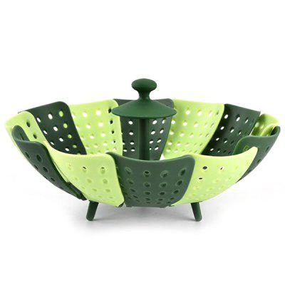 Unique Stitching Design Folding Steamer Fruit Drain Basket Multipurpose Folding Holder