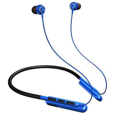 GSD-101 Bluetooth 5.0 Magnetic Neckband Earphones IPX6 Water-resistant Wireless 9D Stereo Sound Sport Earbuds with Noise Cancelling Mic