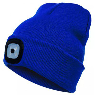 Multifunctional USB3.0 Charging LED Light Warm Knit Hat