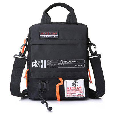 Men's Water-resistant Crossbody Bag Multipurpose Patchwork